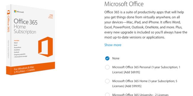 microsoft e1458822238768 Apple Store : Microsoft Office 365 listé comme un accessoire iPad Pro