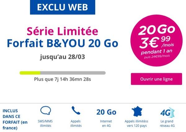 offre bouygues 399 pendant un an 3,99€ par mois pendant un an chez Virgin mobile, Free et Bouygues Telecom !