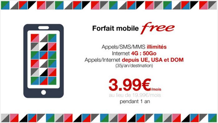 offre free 399 pendant un an 1 3,99€ par mois pendant un an chez Virgin mobile, Free et Bouygues Telecom !