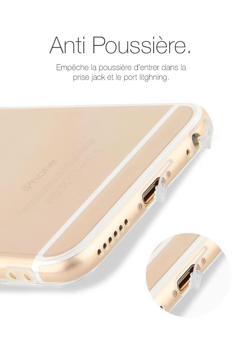 pic5 Coque Invisible X Ultra Fine iPhone 7, 8 & 7, 8 Plus avec protection décran