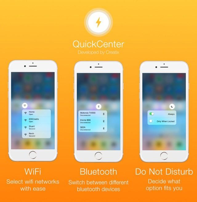 quickcenter 1 Cydia : QuickCenter apporte le 3D Touch au Centre de contrôle