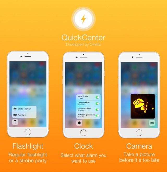 quickcenter 2 Cydia : QuickCenter apporte le 3D Touch au Centre de contrôle