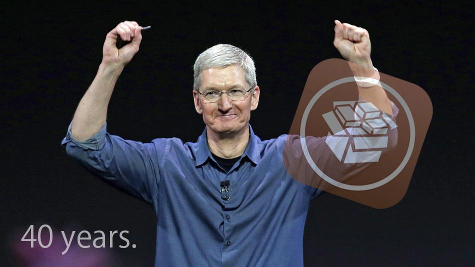 Tim Cook Apple rachète Cydia pour fêter son 40e anniversaire !