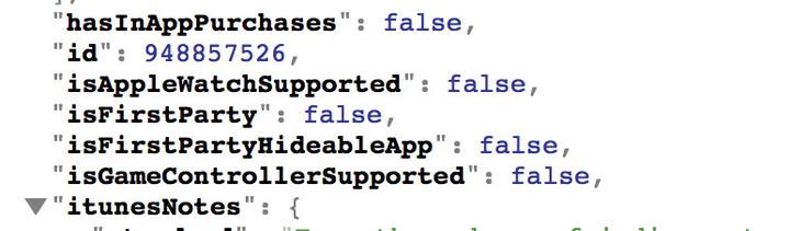 code json app store Des métadonnées diTunes annoncent la possibilité de cacher des applications natives