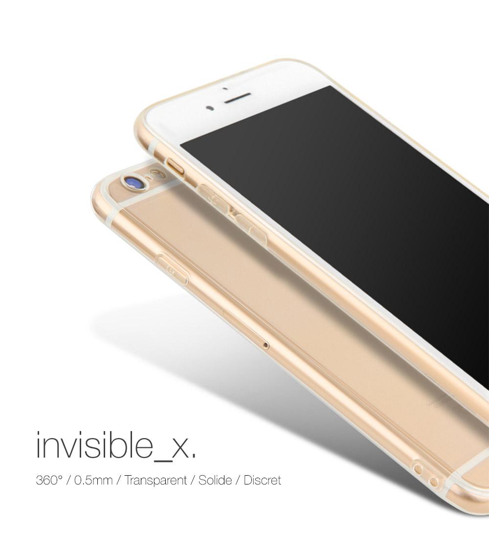 cover invX Coque Invisible X Ultra Fine iPhone 7, 8 & 7, 8 Plus avec protection décran
