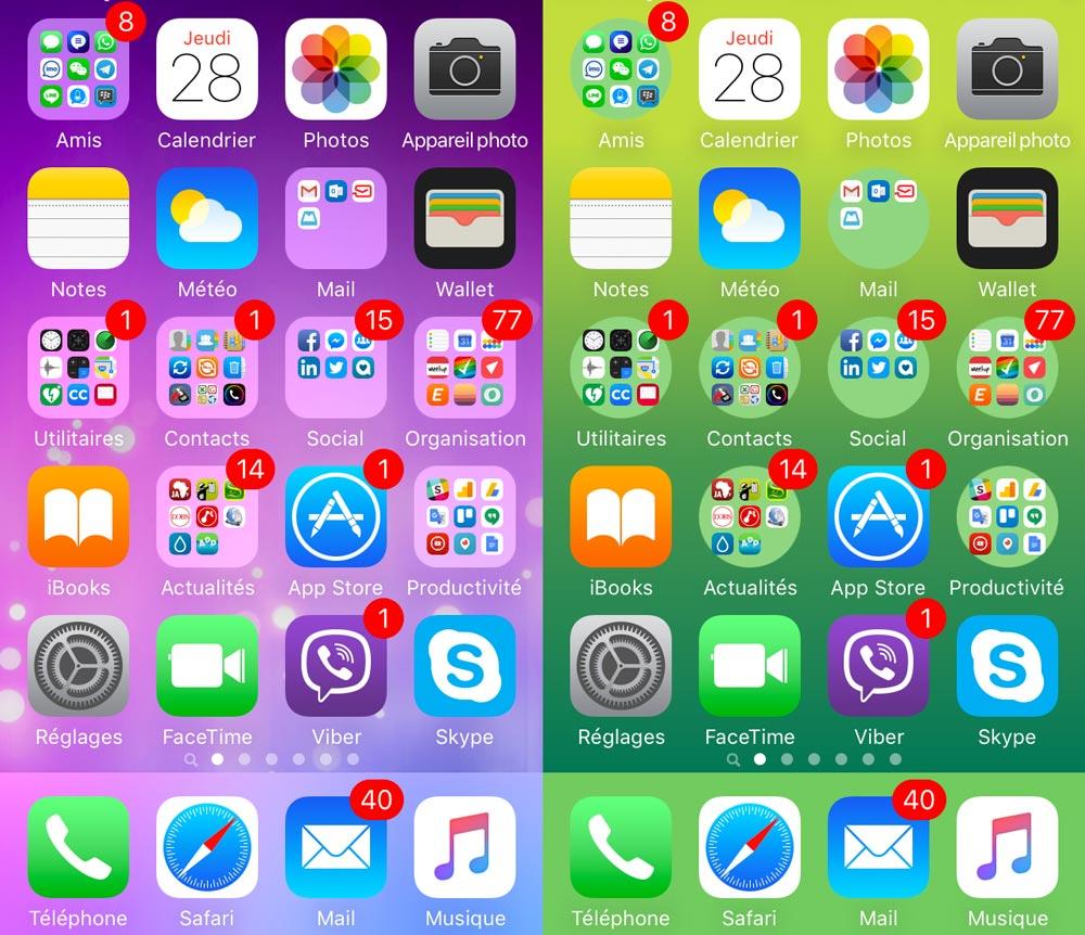 dossier aspect rond ios sans jailbreak [TUTO] Comment donner un aspect rond à vos dossiers dapplications iOS sans jailbreak