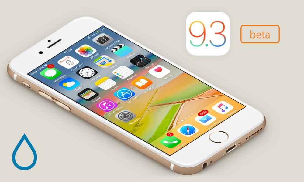 ios 9.3 version beta Apple rend disponible la bêta 3 pour iOS 9.3.3, OS X 10.11.6 et tvOS 9.2.2
