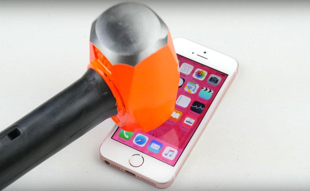 iphone se test marteau LiPhone SE soumis au test du marteau