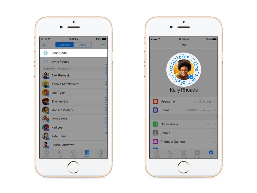 messenger scan code Facebook Messenger atteint 900M dutilisateurs et introduit un nouveau système de codes