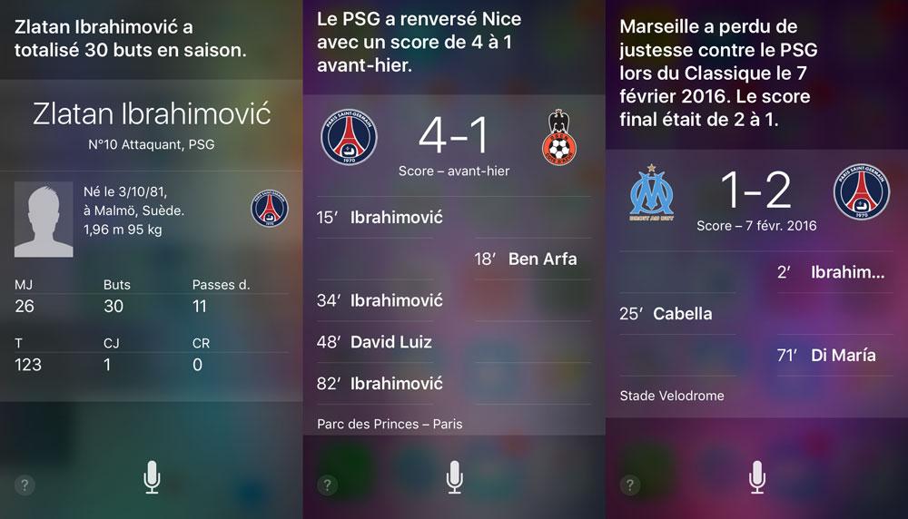 siri questions football Siri peut répondre à vos questions sur le football et dautres sports professionnels