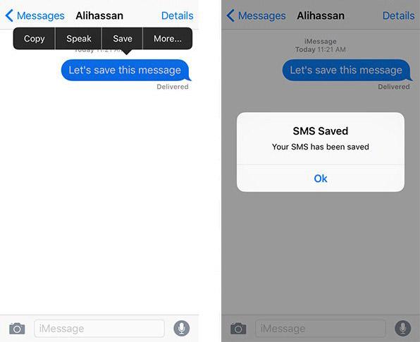 smsSave 2 Cydia : sauvegarder des SMS ou iMessages spécifiques avec SmsSave