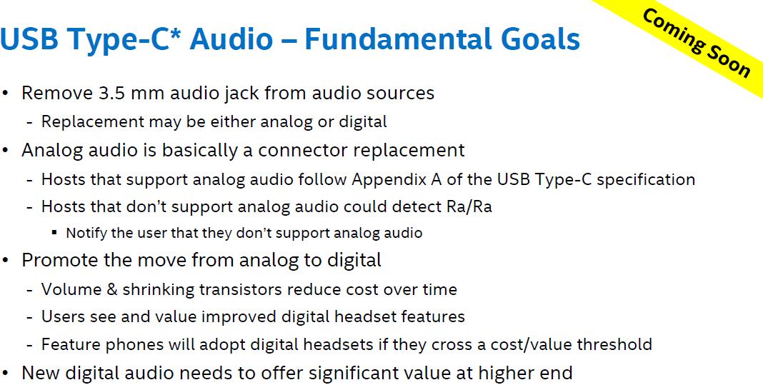 usb c audio goals Intel suit Apple et envisage la suppression de la prise Jack au profit de lUSB Type C
