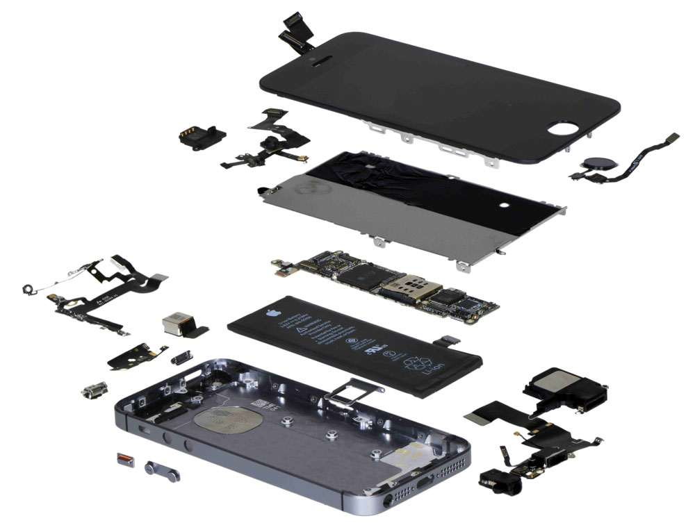 vue decomposee iphone se LiPhone SE coûte moins cher à fabriquer que liPhone 5s