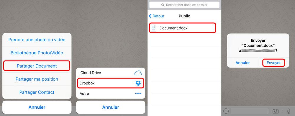 whatsapp partage document microsoft office WhatsApp iOS vous permet de partager des documents Word, Excel ou Powerpoint