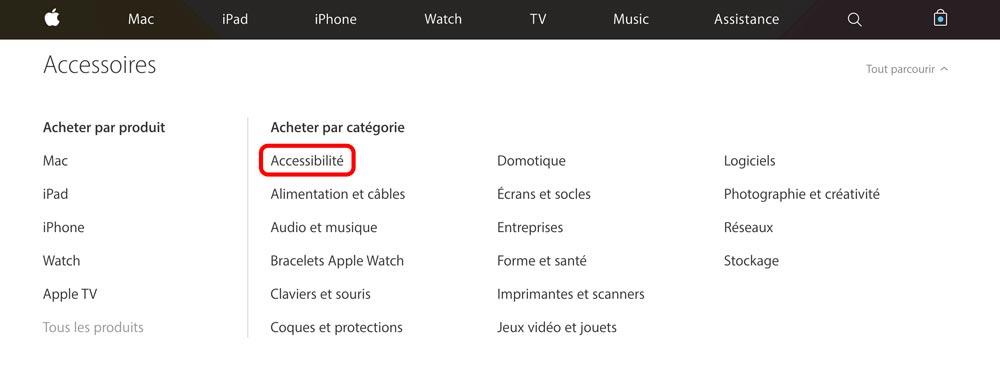 accessibilite apple store Une nouvelle section Accessibilité apparaît sur lApp Store en ligne