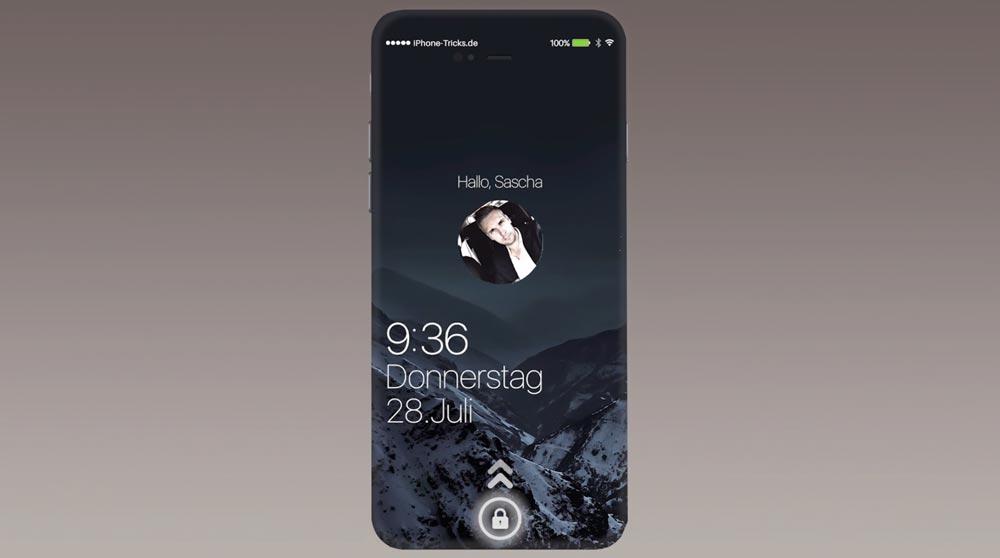 concept iphone sans bouton home LG rend techniquement possible lintégration du Touch ID à lécran de liPhone !