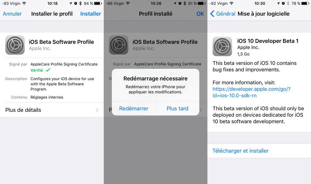 installation ios 10 beta gratuit sans ordinateur [TUTO] Comment installer iOS 10 gratuitement, sans ordinateur et sans compte développeur