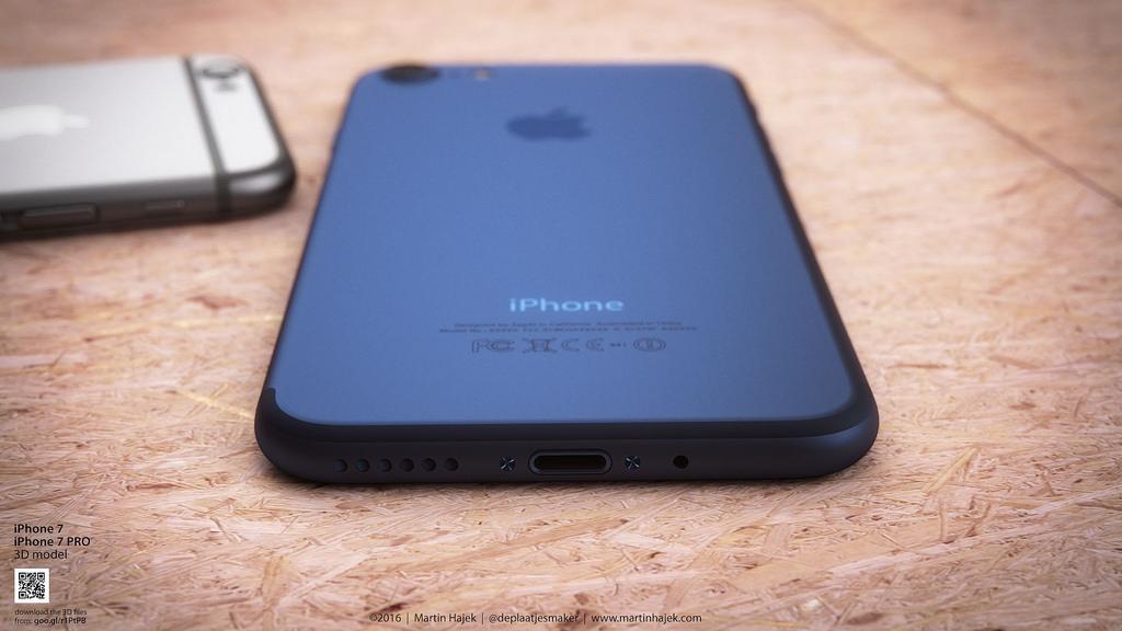 iphone 7 bleu fonce 3 Martin Hajek propose son concept diPhone 7 bleu profond