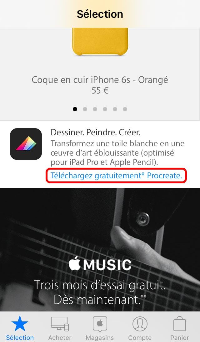 procreate 1 Comment télécharger gratuitement Procreate sur l'app Apple Store