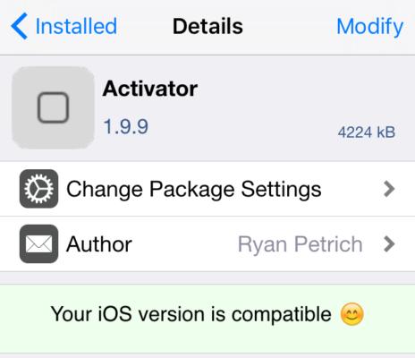 activator Cydia : Activator est désormais compatible iOS 9.3.3 !