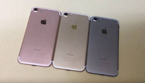 iPhone 7 or rose gris noir 500x289 iPhone 7 : 3Go de RAM selon plusieurs sources fiables