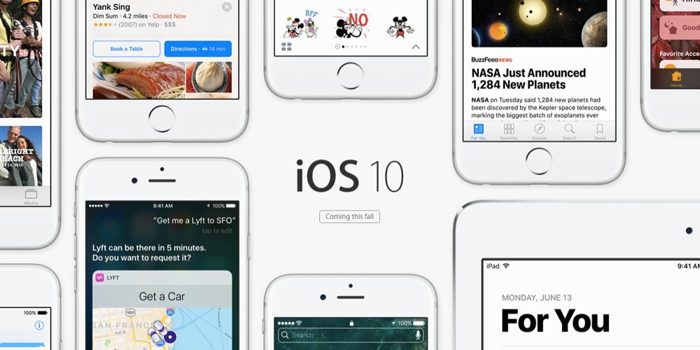 ios 10 iOS 10 bêta 3 : quelles nouveautés ?