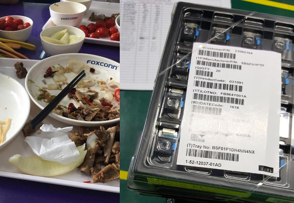 module camera iphone 7 foxconn iPhone 7 : des photos des modules dappareils photos prise à Foxconn