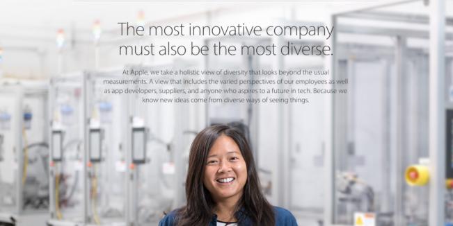 diversite e1470297969610 Diversité 2016 : Apple recrute davantage de minorités