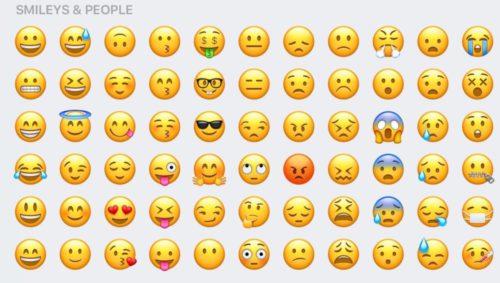 ios 10 visages 500x283 iOS 10 : plus de 100 nouveaux Emojis à découvrir en images !