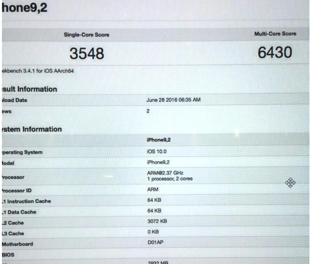 iphone 7 bench iPhone 7 : un premier benchmark repéré sur Geekbench !