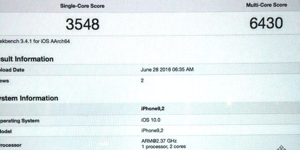 iphone 7 geekbench iPhone 7 : un premier benchmark repéré sur Geekbench !