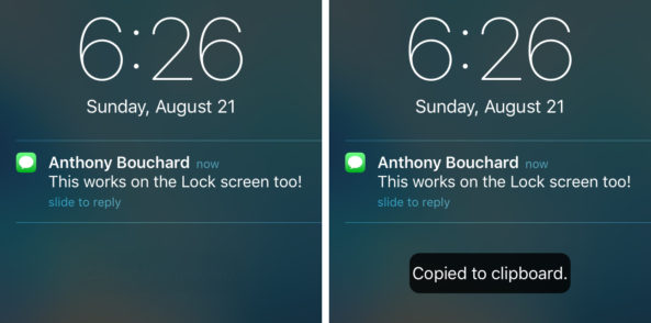 noticopy [Cydia] NotiCopy : copiez le texte des notifications iOS