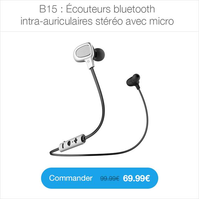 b15 ecouteurs CYBER MONDAY 24h sur la boutique ShopSystem (jusquà  50%)