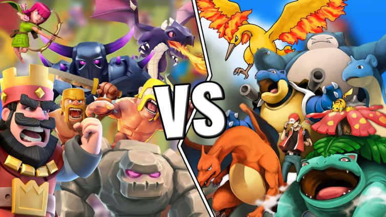 clash vs pokemon 754x424 App Store : Clash Royale reprend le trône à Pokémon GO