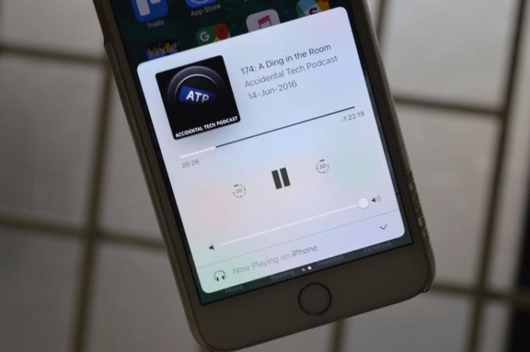 ecran lecture en cours 754x501 [Tutoriel] iOS 10 : utiliser les nouvelles fonctionnalités Lock Screen et Home Screen