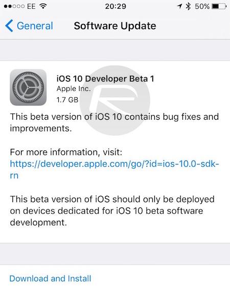 iOS 10 dev beta 1 1 iOS 10, macOS Sierra, watchOS 3, tvOS 10 Golden Master disponibles