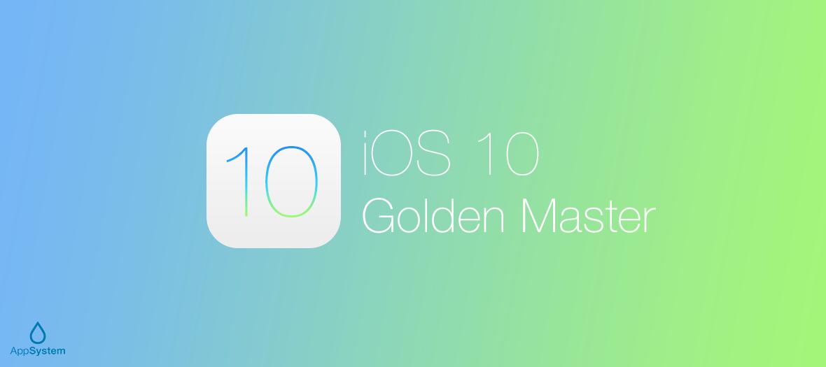 ios 10 golden master gm 1 iOS 10, macOS Sierra, watchOS 3, tvOS 10 Golden Master disponibles