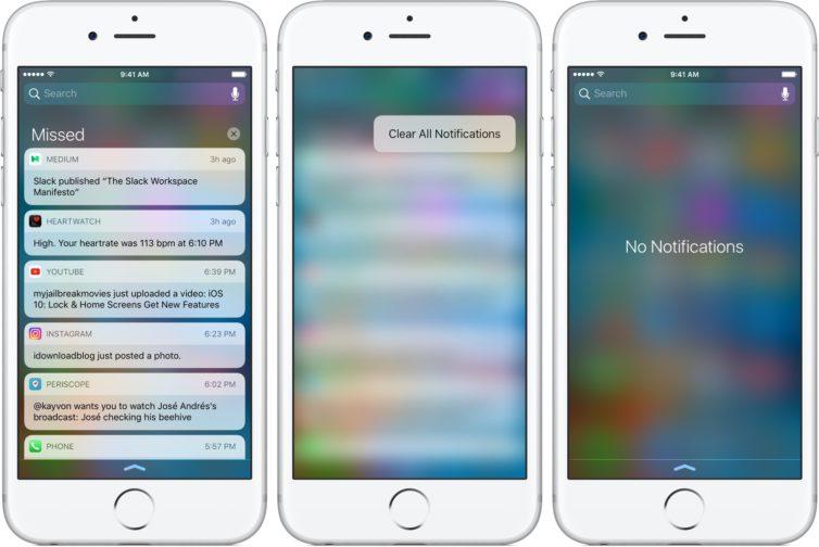 ios ecran verrouilage 754x504 [Tutoriel] iOS 10 : utiliser les nouvelles fonctionnalités Lock Screen et Home Screen