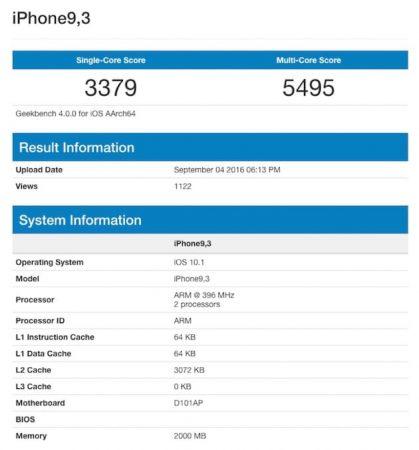 iphone 7 benchmark iPhone 7 : GeekBench confirme les performances monstrueuses