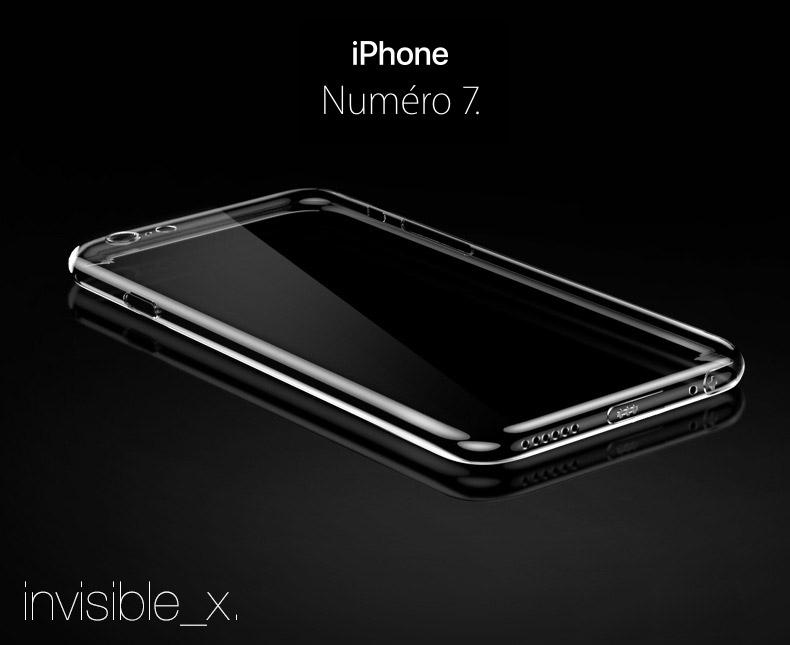 iphone7 coque invisible 1 Coque Invisible X Ultra Fine iPhone 7, 8 & 7, 8 Plus avec protection décran