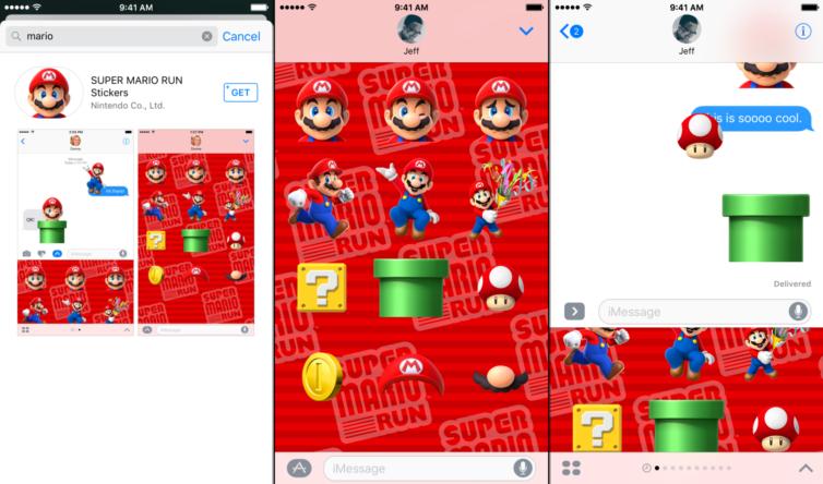 super mario run 754x444 [Tutoriel] iOS 10 : télécharger les stickers Super Mario Run pour iMessages