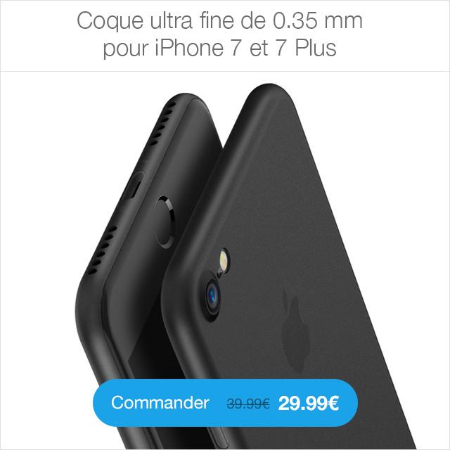 ultra thin Coque en cuir pour iPhone 7 et 7 Plus (ShopSystem)
