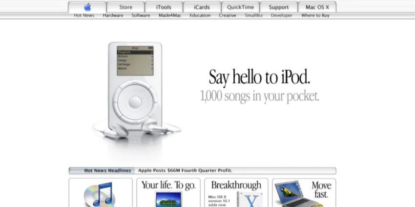 apple com 850x425 [Vidéo] Apple.com : 20 ans résumés en 3 minutes