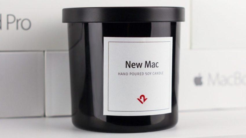 bougie mac neuf e1475684138615 Insolite : une bougie au doux parfum de Mac neuf !