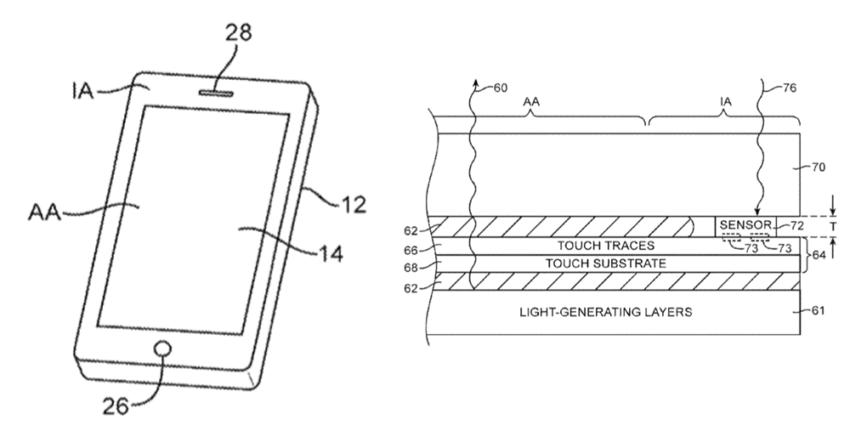 capteur iphone 8 e1476198586262 iPhone 8 : un capteur de lumière intégré à lécran ?