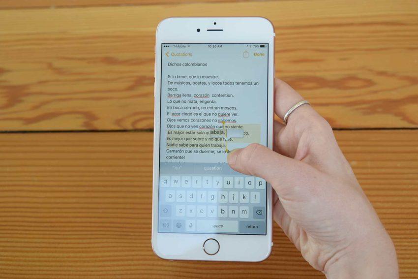 clavier ios 850x567 [Cydia] OneHanded : utiliser le clavier à une main sur iOS