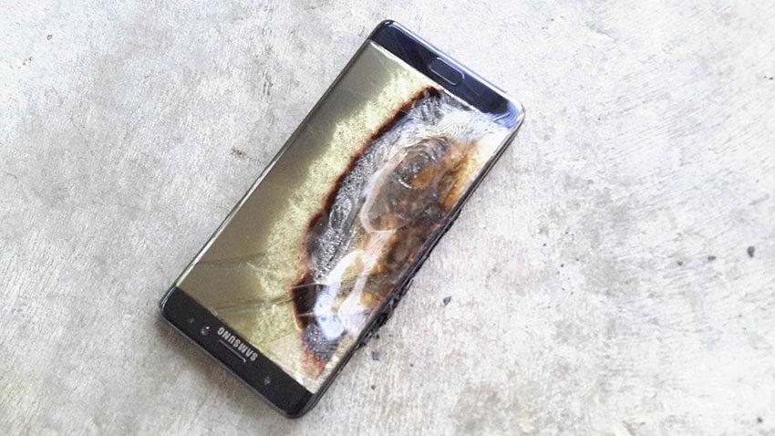 galaxy note 7 explosion samsung 850x478 Insolite : les Galaxy Note 7 interdits à bord dun avion !