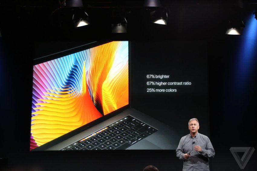macbook ecran 850x567 Bilan keynote : Apple TV, MacBook Pro, Touch Bar