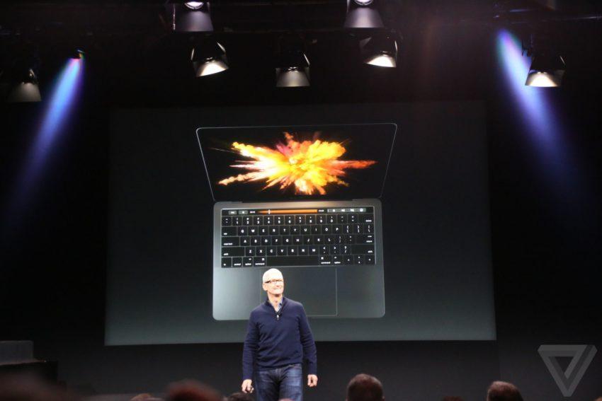 macbook pro 3 850x567 Bilan keynote : Apple TV, MacBook Pro, Touch Bar