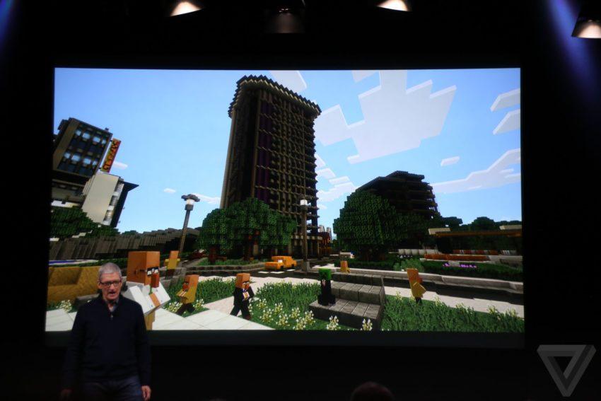 minecraft apple tv 850x567 Bilan keynote : Apple TV, MacBook Pro, Touch Bar